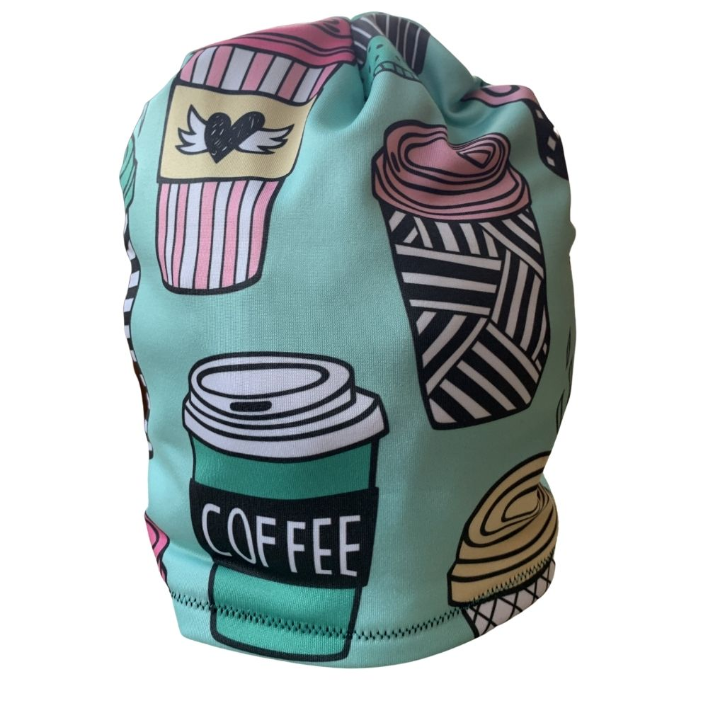 Big Coffee Cups Fleece Lined Hat