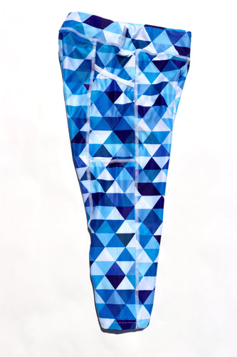 Blue Triangle Capris
