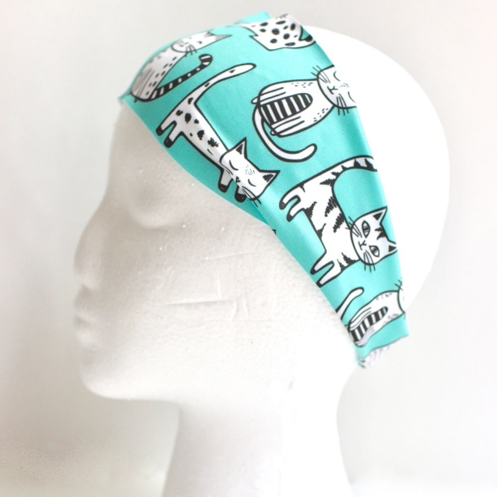 Sweat Wicking Cats Headband