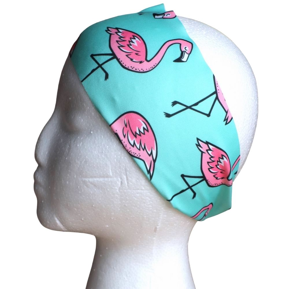 Sweat Wicking Flamingo Headband