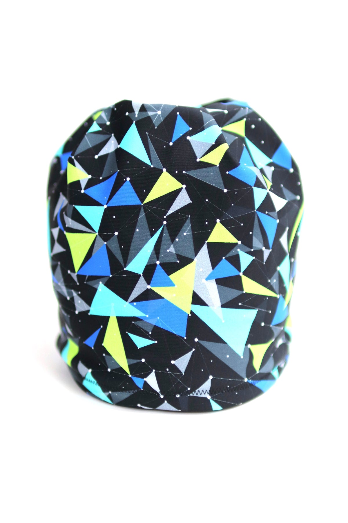 Neon Triangles Fleece Lined Hat
