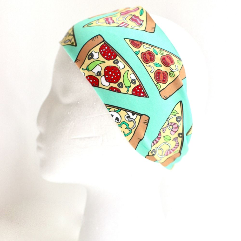 Sweat Wicking Pizza Headband