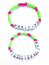 Positive Mind, Vibes, Life Bracelet Set