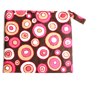 Pink Circles Wet Bag