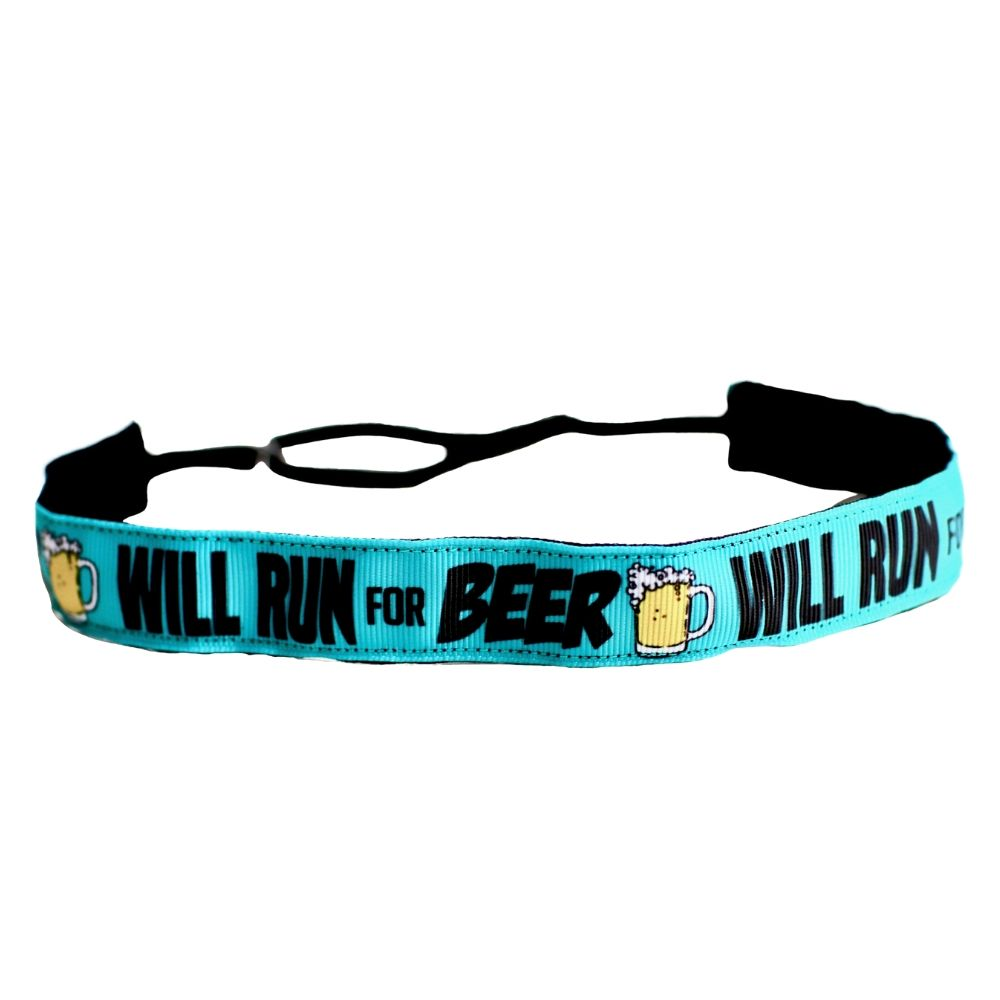 Will Run For Beer Non-Slip Headband