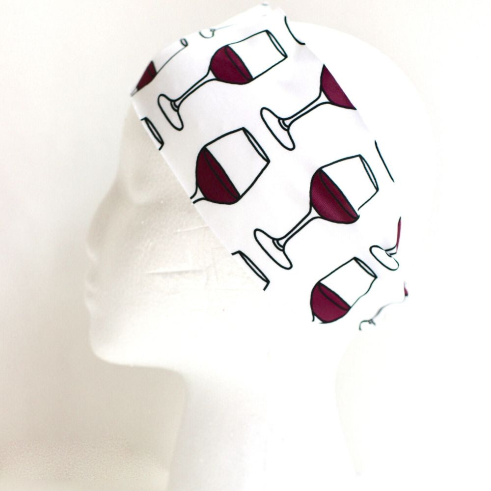 Sweat Wicking Wine Headband