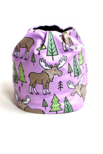 Moose Fleece Lined Hat (Purple)