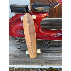 'Remain Individual' - Wine Barrel Skate Board - by The Paper Rain Project