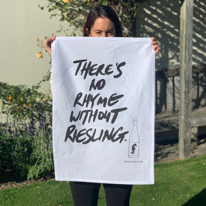 'No Rhyme' Tea Towel