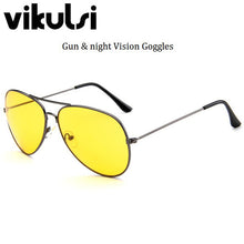 Women Classical Aviator Sunglasses Night Vision Yellow Lens