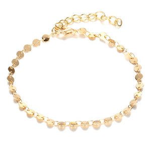 Gold Color Retro Coin Anklets For Women