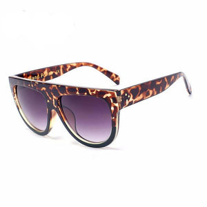 Women Oversized Vintage Leopard Sunglasses