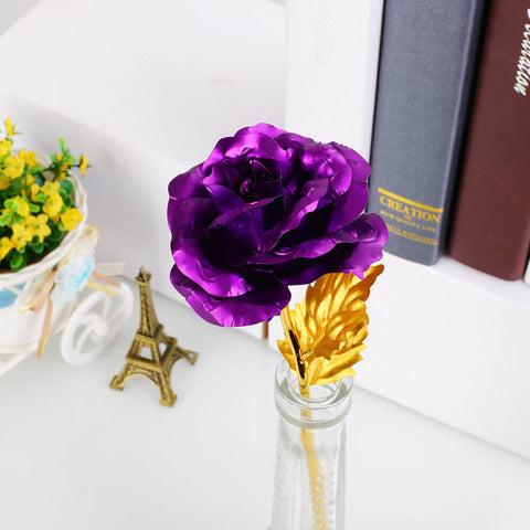 Pure Gold Rose - The Purple 24K Gold Rose 🌹