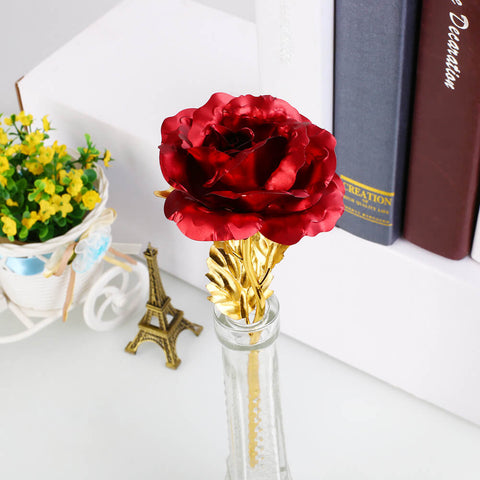 Pure Gold Rose - The Red 24K Gold Rose 🌹