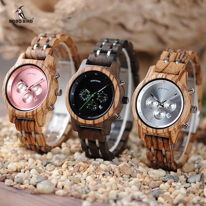 BOBO BIRD Wood Watches A1 Timepieces for Men and Women Wooden Gifts Box Included