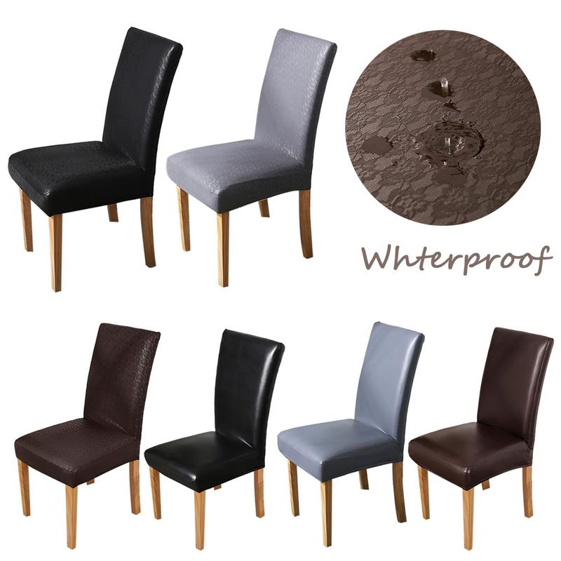 Vegan Leather Dining Chair Covers