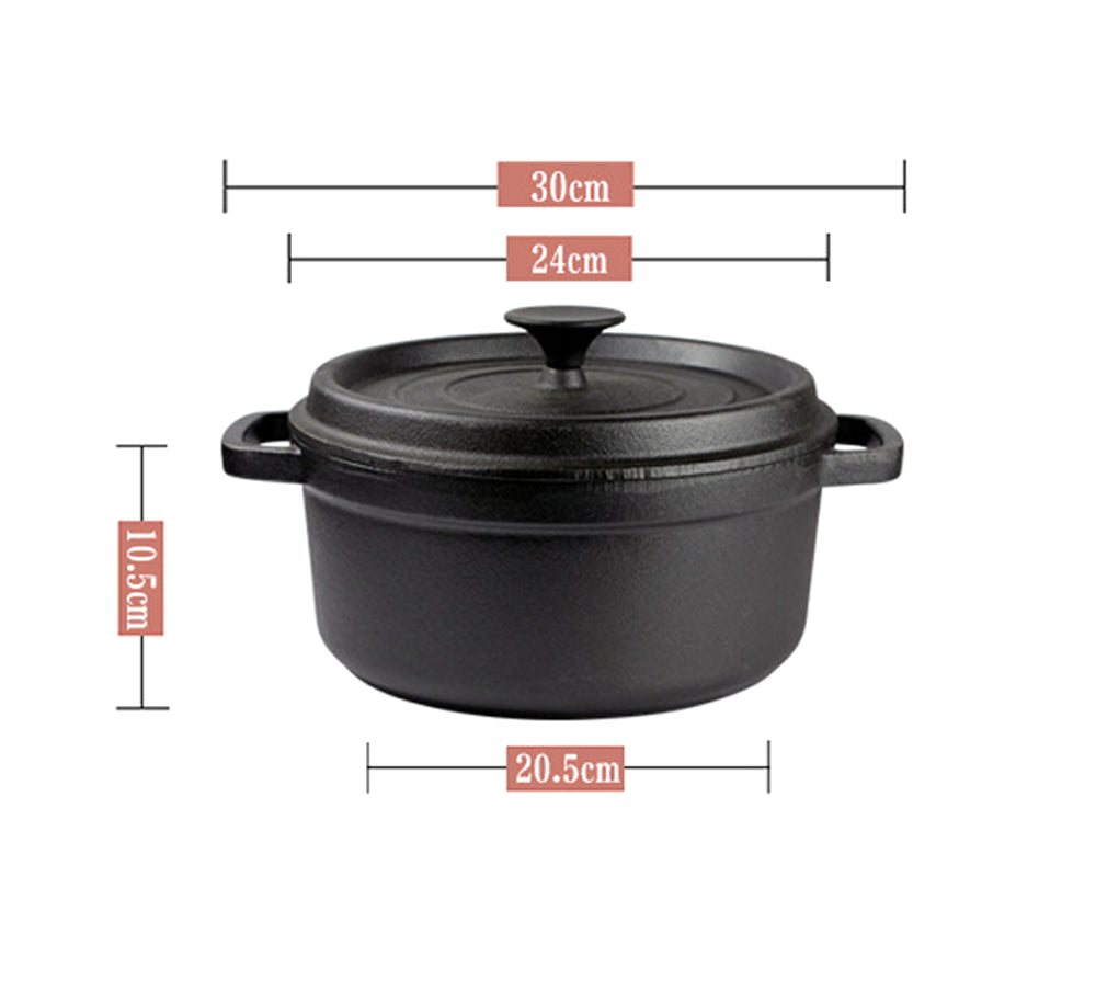 Life Long Cast Iron Stew Pot Non-Stick