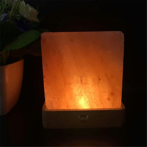Natural Elements Himalayan Crystal Salt Lamp- Cube