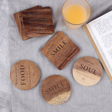 4pc Set Natural Elements Creative Heat Insulation Coaster Pads