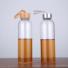 Portable Glass Sport Bottle With Rope Direct Drinking
