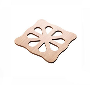 Natural Elements 8 Styles 1Pc Wood Heat Resistant Pad