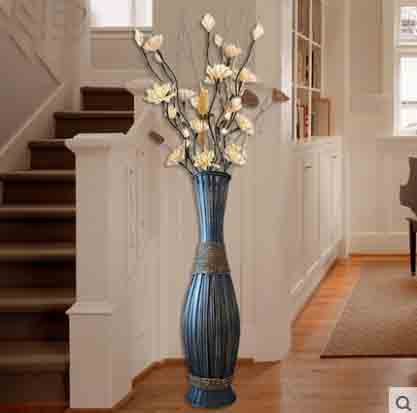 Big Retro Bamboo Wood Large Floor Vase