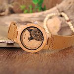 BOBO BIRD Bamboo Watch Lifelike UV Print Dial Face