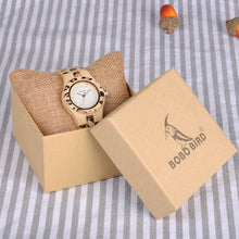 BOBO BIRD Natural Luxury UV Print Design Ladies Bamboo Watch Timepiece