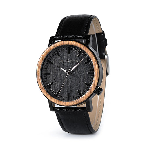 BOBO BIRD Timepieces Wooden Metal Watch for Men Special Design Quartz Wristwatch