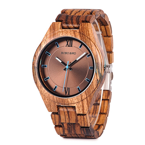 BOBO BIRD Wood Timepieces Quartz Watches in Wooden Gifts Box