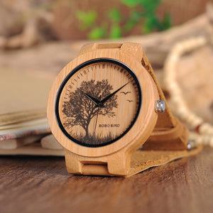 BOBO BIRD Wooden Watches Men Lifelike Design Dial Face