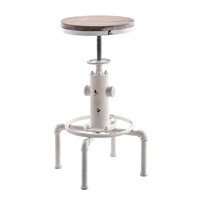 Bar Stools Industrial Metal Adjustable Height Chair Fire Hydrant Design