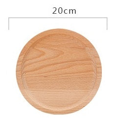 Beautiful Beechwood Round Shape Big Dinner Plate