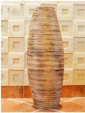Addy Bamboo Floor Vase Large Handcrafted