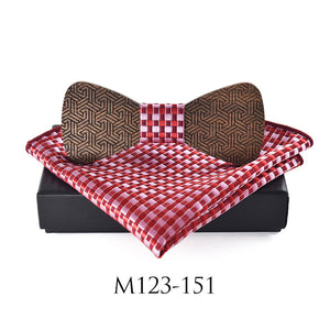 Natural Elements #2 Classic Wooden Bow Tie Set