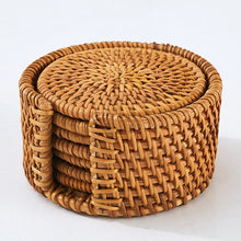 Cane Cup Mats and Coasters Natural Plant Kitchen Mats