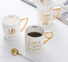 Gold-plated European Style Ceramic Coffee Cups