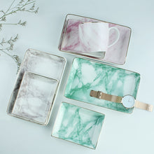 Natural Elements Marble Trinket Rectangular Plate