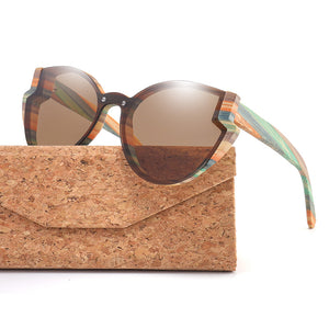 Natural Elements Butterfly Bamboo Sunglasses
