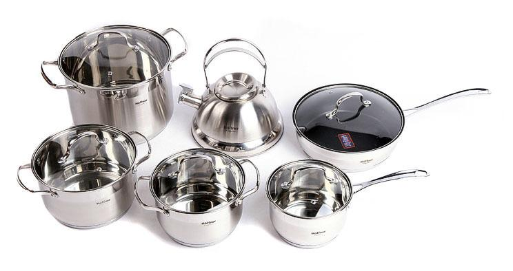 Natural Elements Hoffner 12Pc Multi-Purpose Stainless Steel Cookware Set