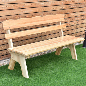 5 Ft 3 Seats Outdoor Wooden Garden Bench