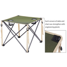 Green Portable Outdoor Folding Table Chairs Set Camping Beach Picnic Table
