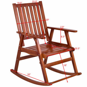 Natural Pine Wood Rocking Chair