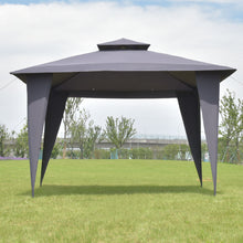 2 -Tier 11 'X 11 Black 'Gazebo Canopy Shelter