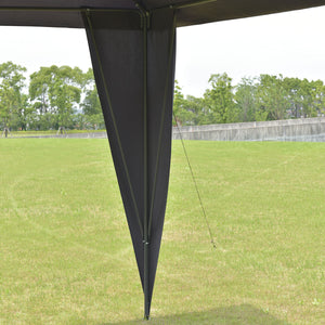 2 -Tier 11 'X 11 Black 'Gazebo Canopy Shelter Portable Tent Steel Frame Patio Garden Awning
