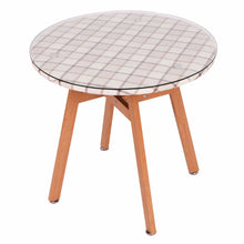Round Dining Table Steel Frame Tempered Glass Top
