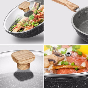 Natural Elements Wood Stone 20-28 cm Non-stick Chef Frying Pan