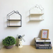 Little House Iron Storage Shelf Rack Wall Decor Home Organizer