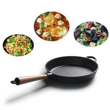 Cast Iron Frying Pan With Wood Handle  Pan Skillet