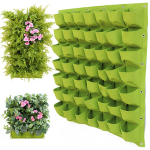 Green Hanging Wall Plant Grow Bag Vertical Garden